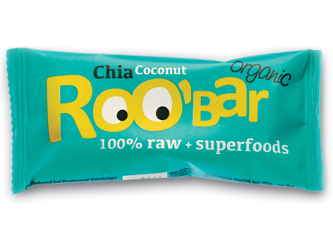 Roobar chia a kokos RAW BIO 30g x 20ks- Dragon Superfoods