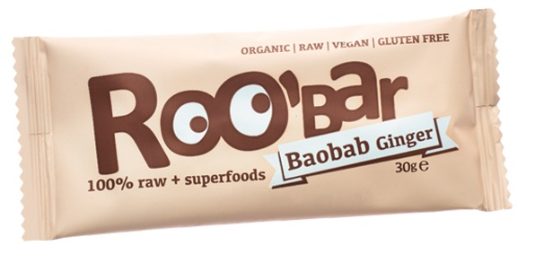 Roobar baobab a zázvor RAW BIO 30g - Dragon Superfoods