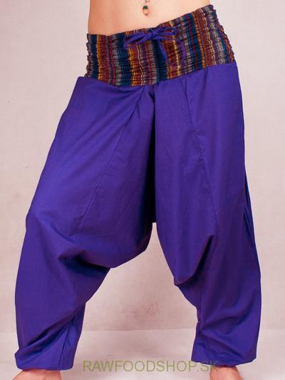 ca42593ff439 Turecké Nohavice Aladinky KP01 Haremky - Pumpy s farebným pásom