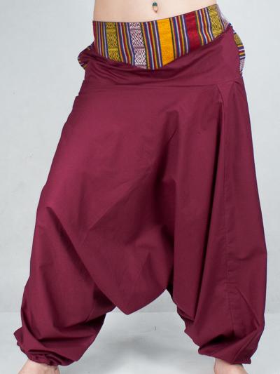f1cbf7331e0f Turecké nohavice Aladinky Háremky Pumpy s Pásom Nepál burgund