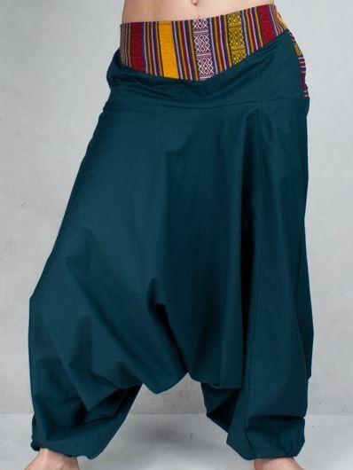 99a5d937600c Turecké nohavice Aladinky Háremky Pumpy s Pásom Nepál indigo