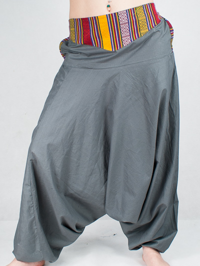dfcb942f55d4 Turecké nohavice Aladinky Háremky Pumpy s Pásom Nepál sivé