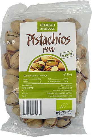 Pistácie RAW BIO 150g - Dragon Superfoods