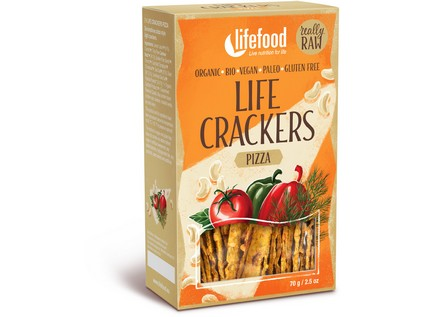 Life crackers á la pizza BIO RAW 70g, Lifefood