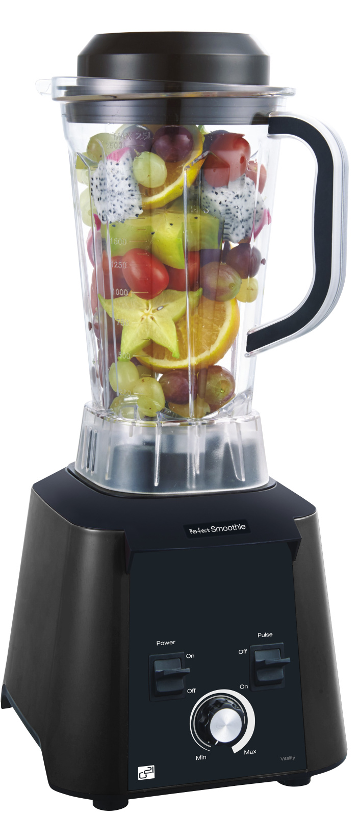 Blender Perfect smoothie Vitality graphite black RAW mixér - G21