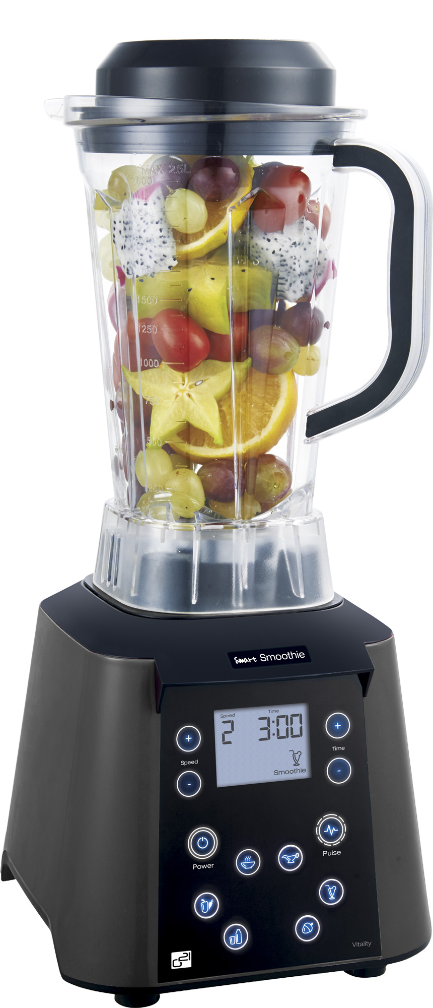 Blender Smart smoothie Vitality graphite black, LCD displej RAW mixér - G21