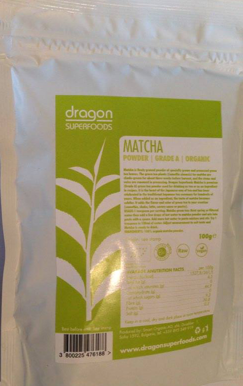 Prášok Matcha  RAW BIO  RAW 100g - Dragon Superfoods