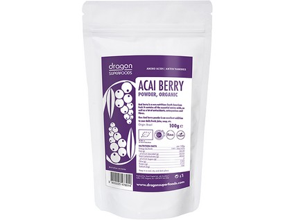 Acai prášok RAW BIO 100g - Dragon Superfoods