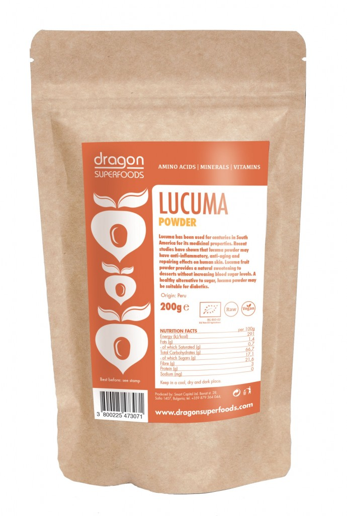 Lucuma prášok RAW BIO 200g - Dragon Superfoods